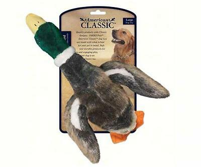 AMERICAN CLASSIC LARGE MALLARD DUCK DOG TOY w/SQUEAKER, Safe and Durable