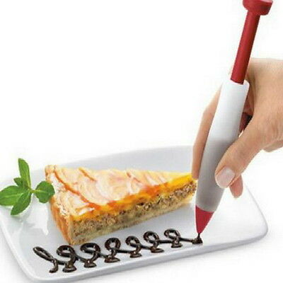 Pastry Cream Chocolate Decorating Syringe Gallant Plate Paint Pen Cake Cookie
