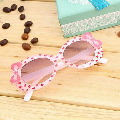 Fashion Baby Kids Children Sun Glasses Plastic Sunglasses Girls Bow Eyewear LA