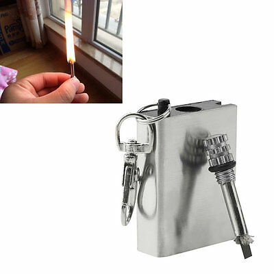 Emergency Fire Starter Flint Match Lighter Camping Instant Survival Tool NEW LA