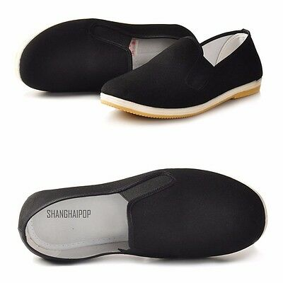 Men Chinese Espadrille Slipper Shoes Flat Martial Arts Kung Fu Handmade Sale New