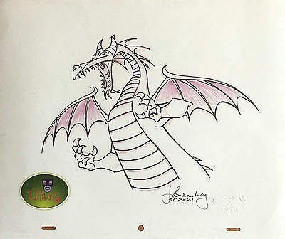 Walt Disney Sleeping Beauty Dragon Maleficent, orig. Zeichnung (Disney Villains)