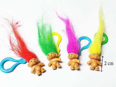 48X mini lucky troll 2cm with clip Fun Party Favor boy girl kid toy pinata gift