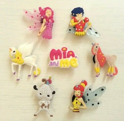 7 x Mia and Me Croc Shoe Charms Crocs Jibbitz Toppers Decorations Wristbands