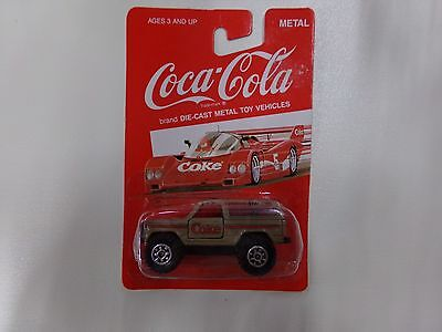 Coca Cola Die-Cast Metal Car Tan 4x4 NEW on Card by HARTOY
