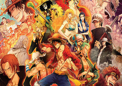 Poster A4 Plastifie-Laminated(1 Free/1 Gratuit)*manga One Piece.multi-Mix Persos