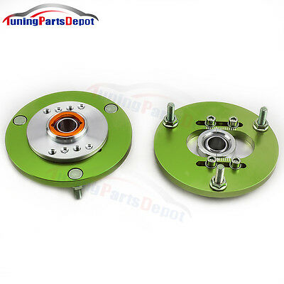 For BMW 3 Series E36 1991-1998 Front Coilover Camber Plate Top Mount Cap Green