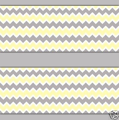 Yellow Gray Grey Chevron Wallpaper Border Wall Decal Boy Nursery Zigzag Stickers