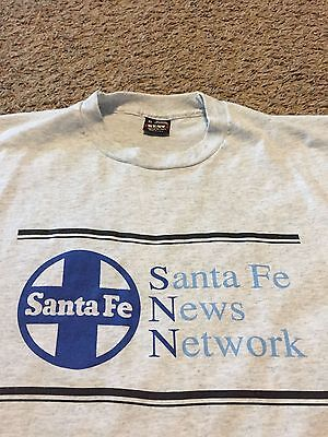 VTG 80's Santa Fe Railroad News Netwrok Shirt Rare XL Gray ATSF BNSF Train