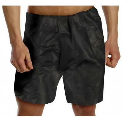 Pro Salon Disposable Spa Client Pro Treatment Boxer Shorts - Black x 10