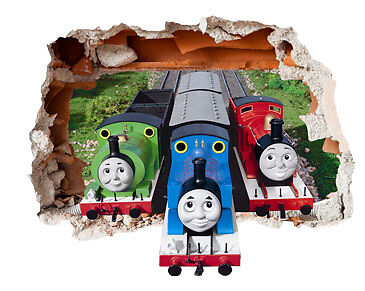 Thomas & Friends Hole in the Wall Sticker 3D Bedroom Boys Girls Vinyl Art Decal