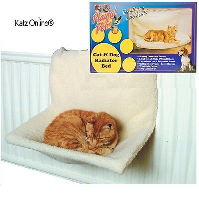 Luxurious Cat Dog Warm Radiator Bed Washable Strong Fleece Basket Cradle Hammock