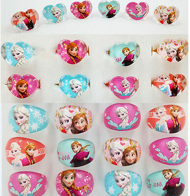 wholesale  children's kids rings  party xmas birthday Frozen anna elsa
