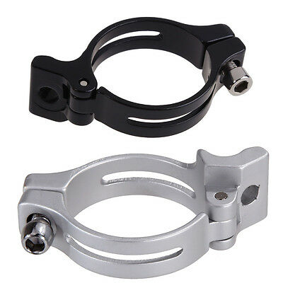 Aluminum Bike Bicycle 34.9mm Front Derailleur Braze-on Adapter Clamp Lightweight