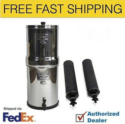 Big Berkey Stainless Steel Water Filtration System with 2 Black Filter Elements