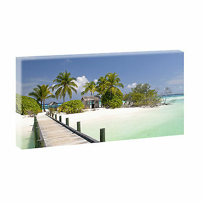 panoramabild auf leinwand bild poster meer strand xxl 120 cm 40 cm 204 eur 23 28 picclick de. Black Bedroom Furniture Sets. Home Design Ideas