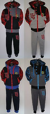 Boys Kids Children Tracksuit Hoodie Jacket Outfit Clothing Girl Suits 2-12Yrs