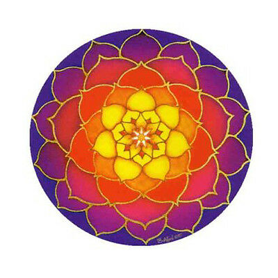 Mandala Arts Sunrise Lotus Flower 2 Side Quality Circle Hippy Window Sticker