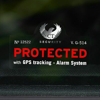 4 CAR ALARM WINDOW STICKER DECAL- Car, Truck, Van GPS SECURITY DEVICE WARNING