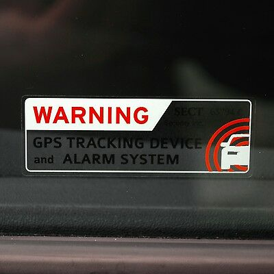 4 SECURITY CAR ALARM STICKERS Truck RV Bike ANTITHEFT GPS TRACKING WARNING