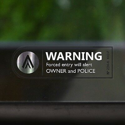 4 WARNING GPS SYSTEM CAR ALARM STICKER Decal Safety Warning Security System