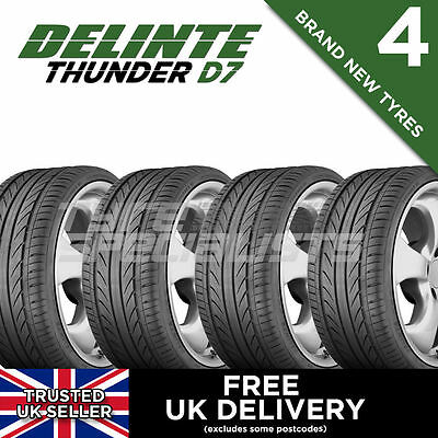 4x NEW 235 35 19 DELINTE THUNDER D7 91W XL TYRE 235/35R19 (4 TYRES) 'C' RATING
