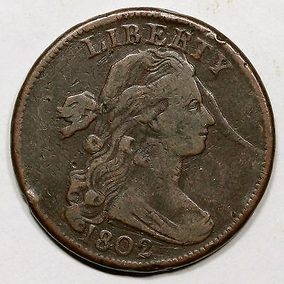1802 S-239 R-3 LDS Draped Bust Large Cent Coin 1c