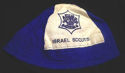 Rare 1970s Israel Scouts Boy Scouts Teen / Adult Hat Cap with Logo Scouting