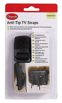 Clippasafe Anti Tip Tv 2 Strap Secured Into The Standard Vesa Paints Brand New