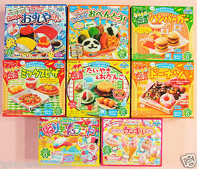 Kracie Popin Cookin Happy Kitchen 8 Pieces Japanese Candy Sushi Hamburger Gift