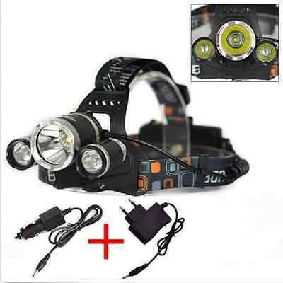 6000Lm 3*CREE XML T6 LED Rechargeable Headlamp Headlight Head Torches Light Lamp