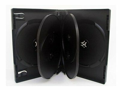 Pack 3 ESTUCHES / CAJAS SEXTUPLES - 6 DVD CD - 21 mm - con bandejas interiores