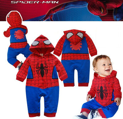 Baby Boy Spiderman Outfit Body Tutina Costume Body