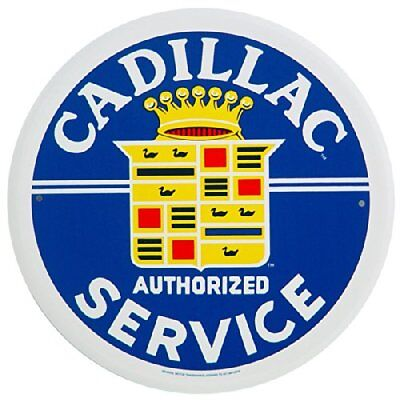 Cadillac Service Round Tin Sign 12 x 12in New