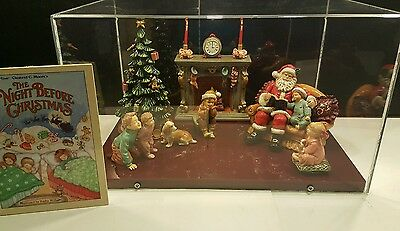 Grandeur Noel Porcelain Christmas Collectors Set 2002 The Night Before Christmas