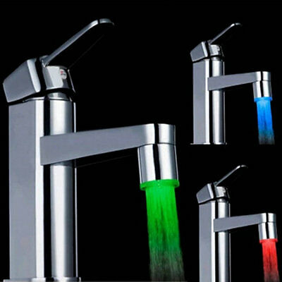 Novelty 7 Color RGB Colorful LED Light Water Glow Faucet Tap Head New OK