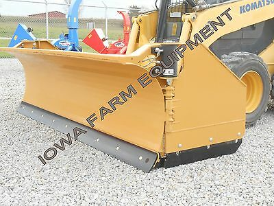 Horst 3200 Skidsteer QA Snow Wing,Snow Pusher,8'Closed-13'Open: STEEL TRIP EDGE!