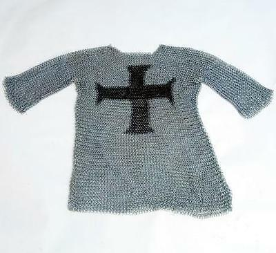 MEDIEVAL Crusader Templar Knight STEEL Half Sleeve CHAIN MAIL MAILLE SHIRT ARMOR