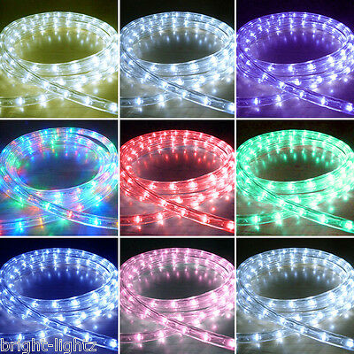 Outdoor Led Rope Lights Chasing Static Xmas Christmas Lighting Garden Home Uk