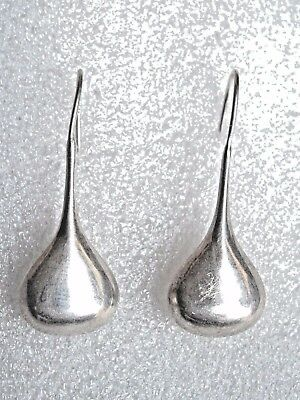 Vintage Sterling Silver 925 Teardrop Dangle Earrings