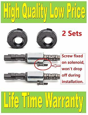 8L3Z6M280A Set of 2 Engine Variable Timing Solenoid VCT Solenoid w/ Seal & Screw