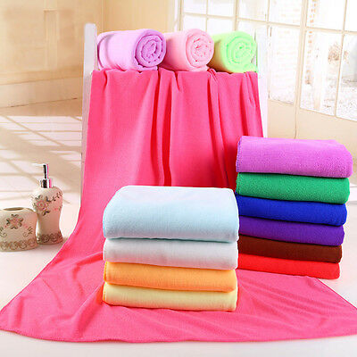 Large Microfibre Cotton Beach Bath Towel Sports Travel Camping Gym Lightweight