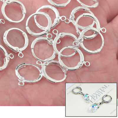 20pc Lever Back 925 Silver Earwires Jewelry Findings for Earrings Make