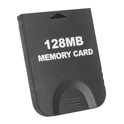 Black 128MB  (2043 Blocks) Memory Card for Nintendo Game Cube & Wii Console GC
