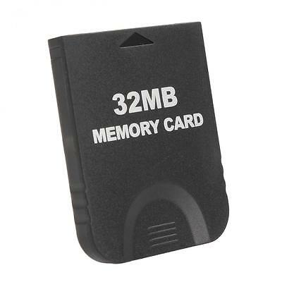 Black 32MB 507 Blocks Memory Card for  Nintendo Game Cube & Wii Console GC