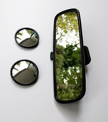 2 Blind Spot Mirrors & Dipping Rear View Stickon Mirror Wide Angle Universal Fit