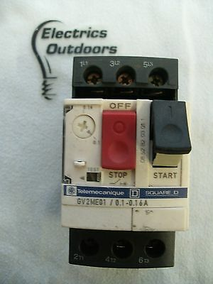 Square D 0.1 - 0.16 Amp Manual Start Stop Switch Gv2Me01 Telemecanique