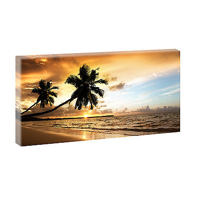 bilder keilrahmenbild strand meer keilrahmen leinwand xxl beach 135 cm 80 cm 217 eur 66 40. Black Bedroom Furniture Sets. Home Design Ideas