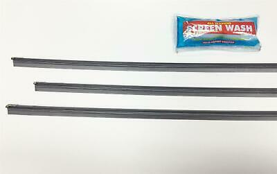 Front & Back Wiper Blade Replacment Rubber Set Of 3 Refills & Screen Wash