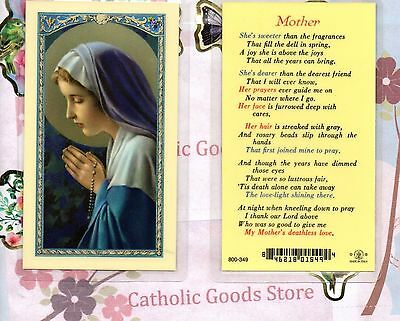 Mother - Laminated Holy Card